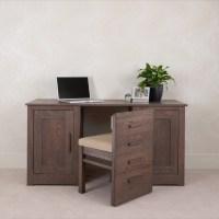 Ora office 1.5m Desk with hidden chair - Con-Tempo Furniture