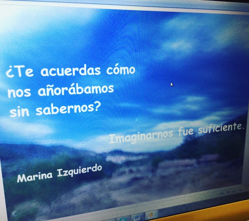 Poema Marina Izquierdo