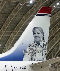 Gloria Fuertes avión