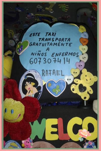 Datos de contacto de Rafael, el taxista de los niños enfermos.