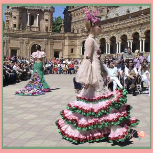 Antonio Gutiérrez en el Desfile trajes flamenca Centenario Parque Maria Luisa