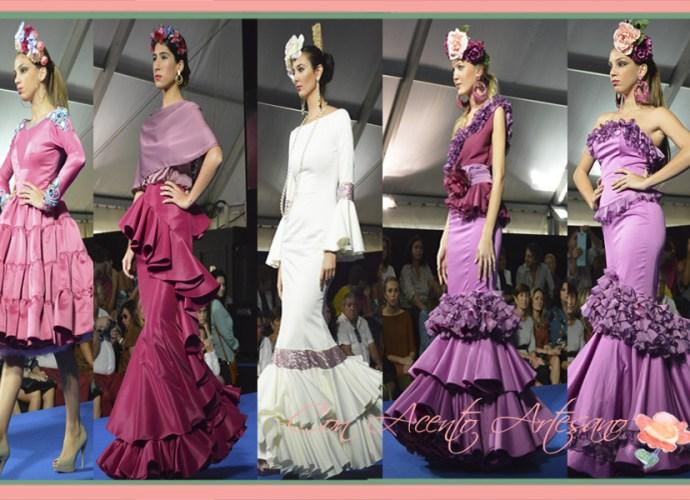 Vestidos flamenca en lilas y fucsias finalistas noveles en We Love Flamenco 2015