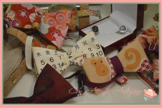 Pajaritas en tejidos japoneses de Manuela de los Santos