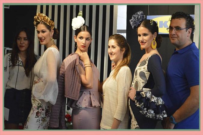 Pierinna Nieves, Laura Aguilera y José Peinado, menciones especiales y ganadora del III Certamen Moda Flamenca IKEA Sevilla