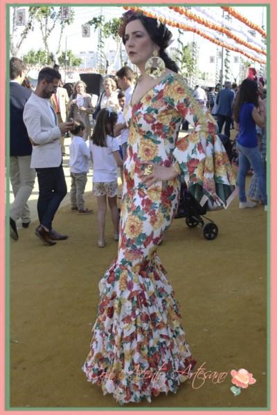 Traje de flamenca de Angela Campos