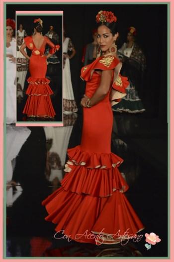 Purificacion Abad, finalista III Certamen diseñadores noveles de moda flamenca We Love Flamenco 2016