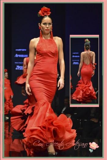 Traje de flamenca cuello halter de Pilar Rubio