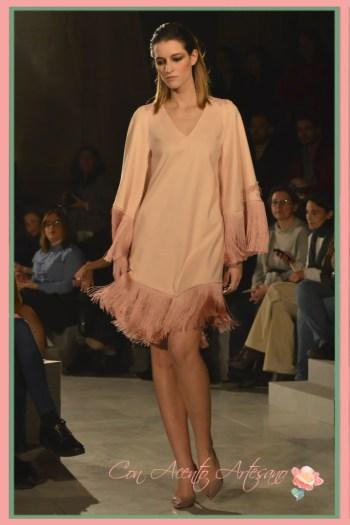 Vestido flecado en rosa cuarzo de DLK