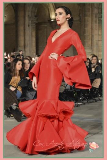 Traje de flamenca rojo de Joaquin Dogo en Wappissima 2016