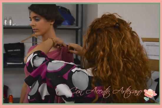 Backstage del Showroom Fashion Press Day de LaPaca Costura y Verónica Carrión