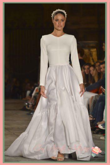 Vestido de novia silueta princesa de Fernando Claro en SIQ 2016