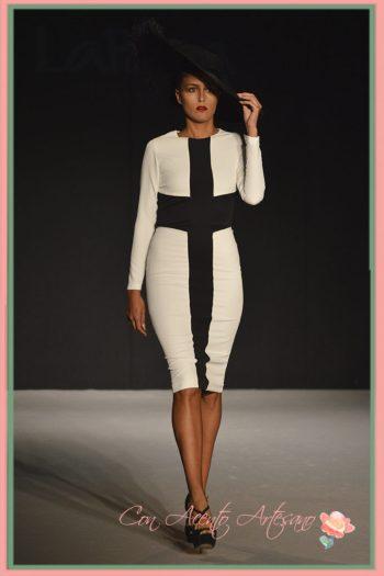 Vestido lápiz en blanco y negro de LaPaca Costura en Code41 Trending