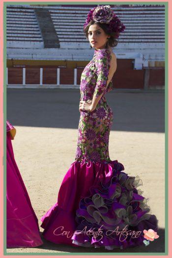 Traje de flamenca de guipur de María José Segura