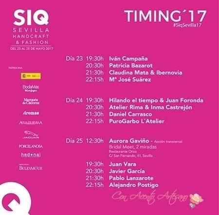 Programa Pasarela SIQ 2017 Sevilla Handcraft & Fashion