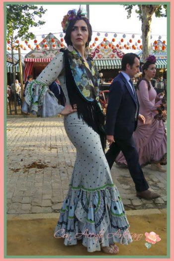 Traje de flamenca verde de Taller de Diseño