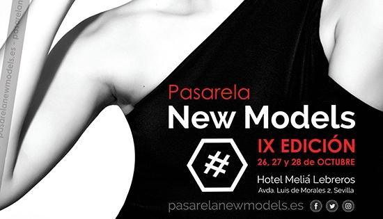 Cartel IX Edición Pasarela New Models septiembre 2017