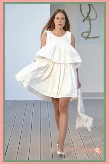 Vestido blanco de batista de Chloe Malla