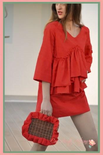 Vestido rojo Chloe Malla