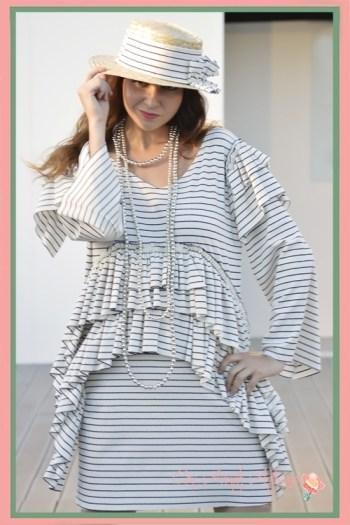 Vestido de rayas Chloe Malla