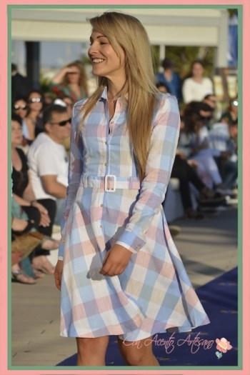 Vestido de cuadros estilo ladylike de Spagnolo Moda