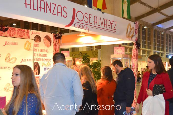 Stand de José Álvarez Joyeros en Boda Sur