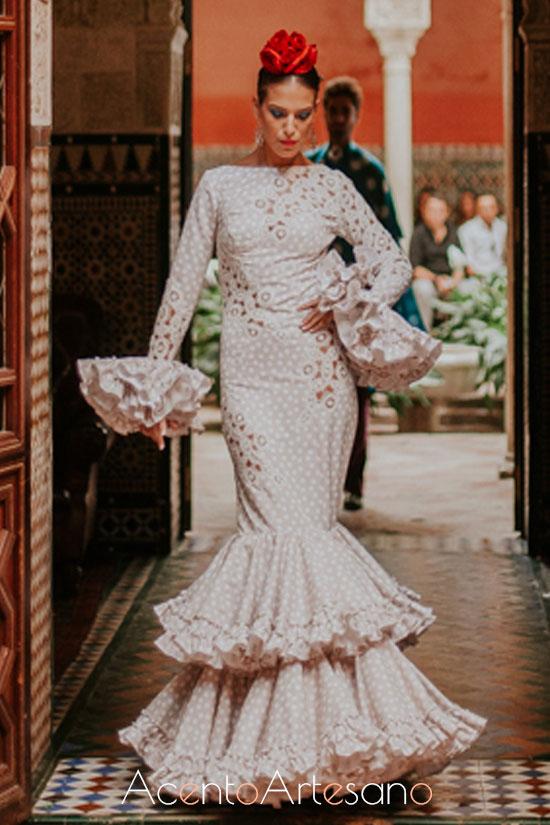 Traje de flamenca de Carmen Acedo
