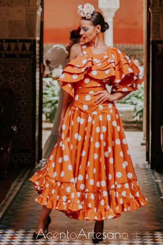Traje de flamenca de Laura de los Santos