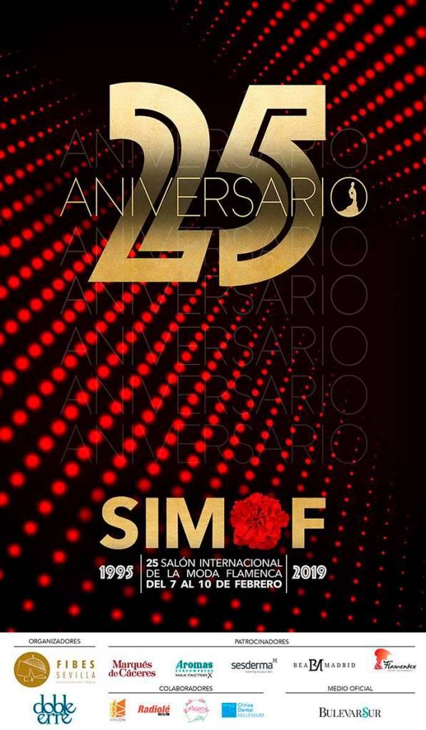 Cartel SIMOF 2019 que conmemora el 25 Aniversario