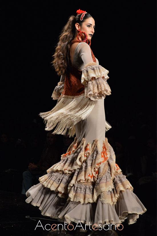 Vestido de flamenca de Aurora Gaviño en SIMOF 2015