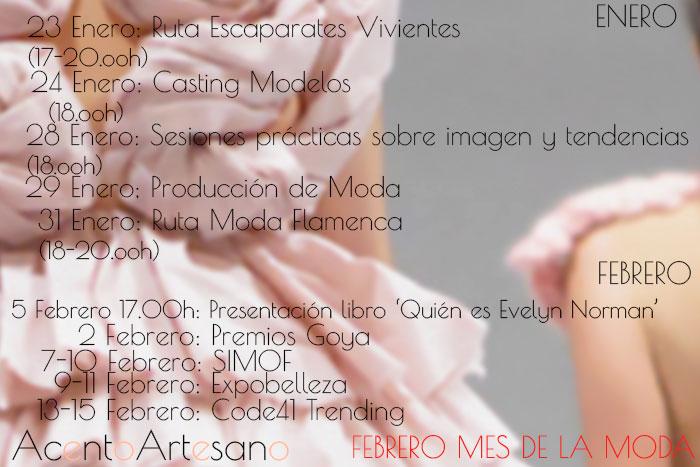 Programa de Actividades Febrero Mes de la Moda en Sevilla