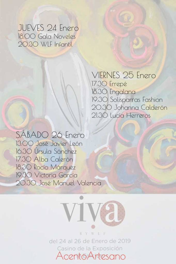 Programa Viva by We Love Flamenco 2019