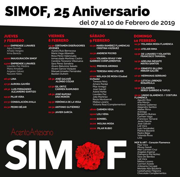 Programa SIMOF 2019 25 Aniversario