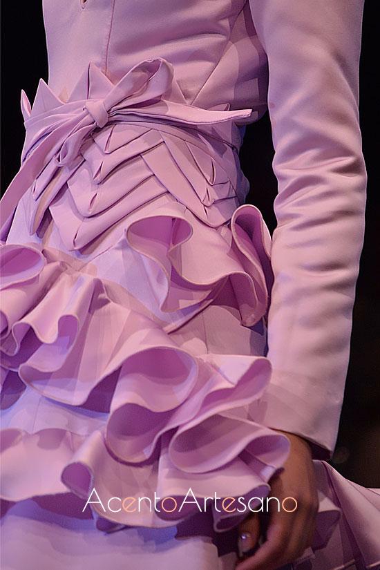 Lazada para traje de flamenca de Aurora Ruíz