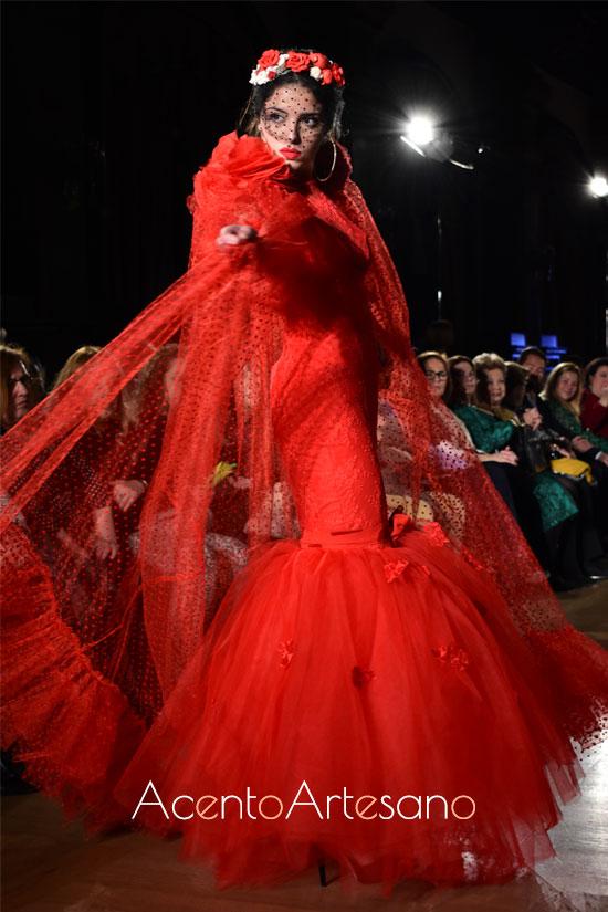 Traje de flamenca rojo de María Ramírez