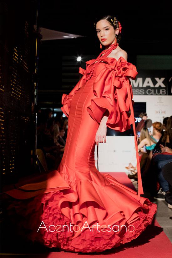 Traje de flamenca rojo de Antonio Gutiérrez