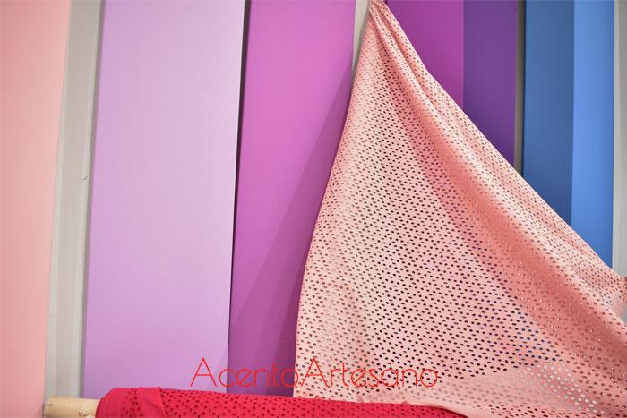 Batista rosa combinada con otros tonos de Flamentex