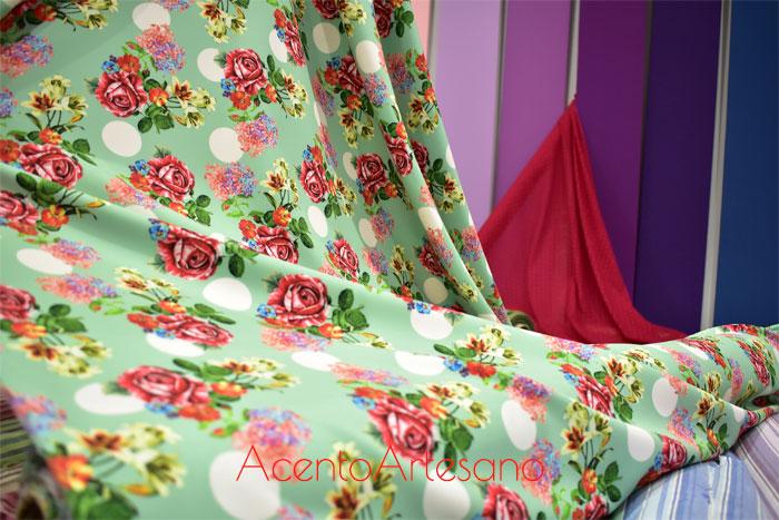 Telas de flamenca de estampado de flores de Flamentex para esta temporada 2019
