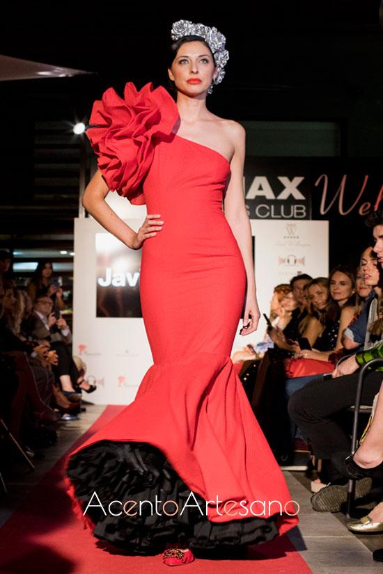 Traje de flamenca rojo de Javier García