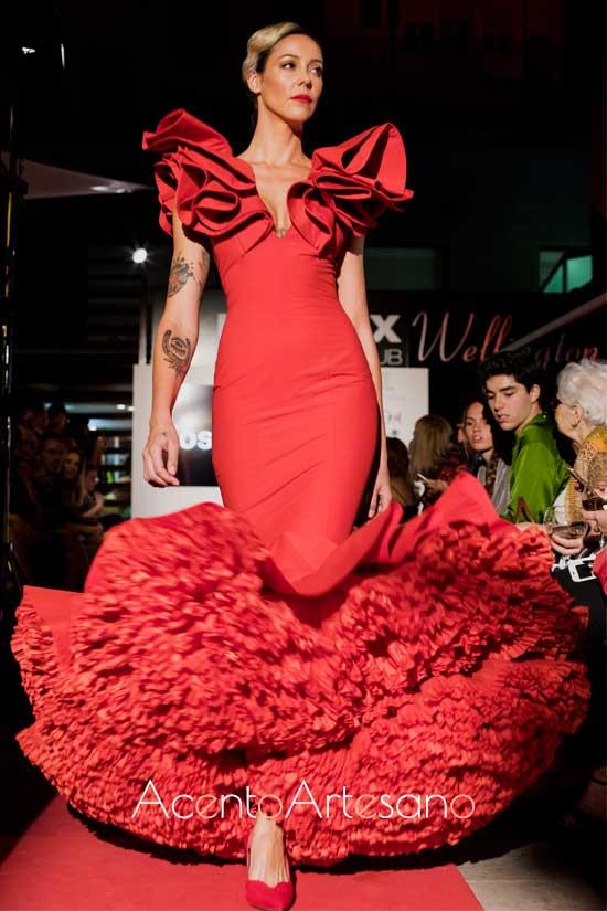 Traje de flamenca rojo de Pedro Béjar