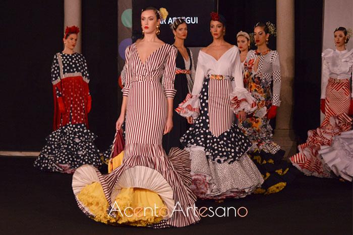 Colección de trajes de flamenca de Pilar Arregui en Emprende Lunares 2019