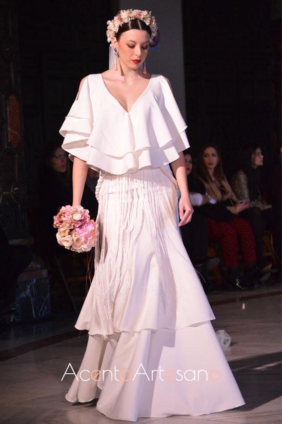 Traje de flamenca de novia de Beatriz Benítez