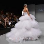 Vestido de novia de volantes de tul de Carls Blanc en Sevilla de Boda 2019