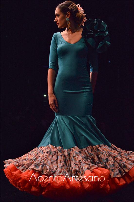 Traje de flamenca de Cristina Vázquez en SIMOF