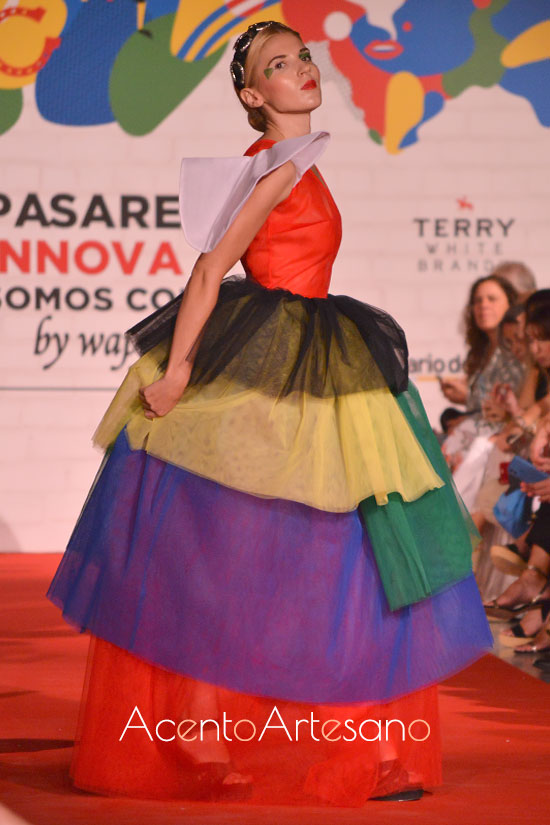 Vestido largo de tul de María Ruíz