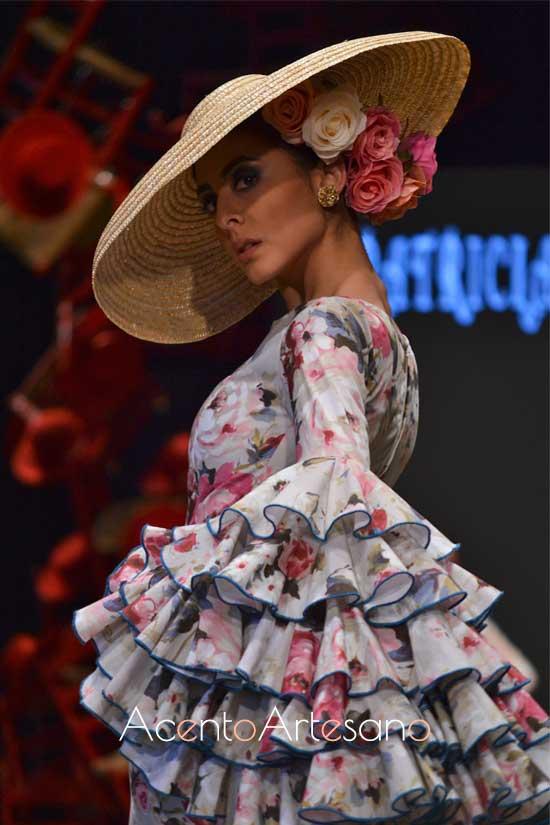 Traje de flamenca estampado de Patricia Galeote