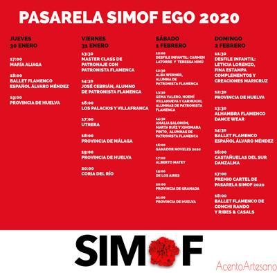 Programa desfiles SIMOF Ego 2020