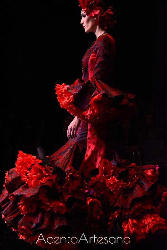 Traje de flamenca de Yolanda Rivas en SIMOF