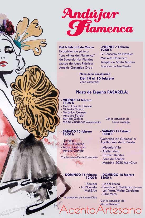 Programa de desfiles de Andújar Flamenca 2020