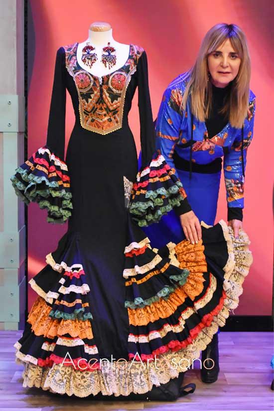 Aurora Gaviño en el programa Aguja Flamenca como madrina e invitada del primer programa