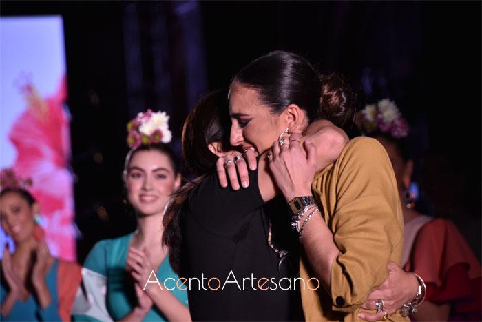 Alba Calerón tras su desfile de su nueva colección de moda flamenca 'Florecer'